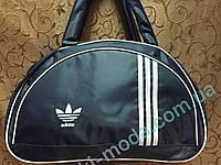 Сумка спортивная адидас серый+Белый только ОПТ/Женская спортивная спорт сумка