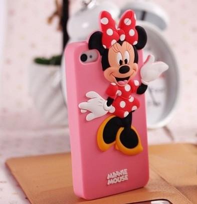 Чехол для iPhone 4 4S Minnie Mouse силиконовый