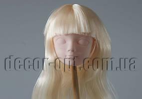Голова куклы 4,5 см со светло-русыми волосами 25см