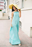 Женское длинное летнее платье на завязке в расцветках Н335
