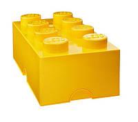 Восьми точечный желтый контейнер для хранения Lego PlastTeam 40041732