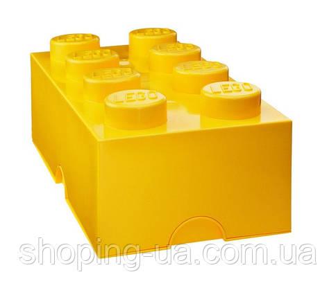 Восьми точечный желтый контейнер для хранения Lego PlastTeam 40041732, фото 2