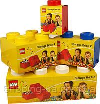 Восьми точечный желтый контейнер для хранения Lego PlastTeam 40041732, фото 3