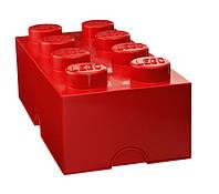 Восьми точечный красный контейнер для хранения Lego PlastTeam 40041730, фото 1