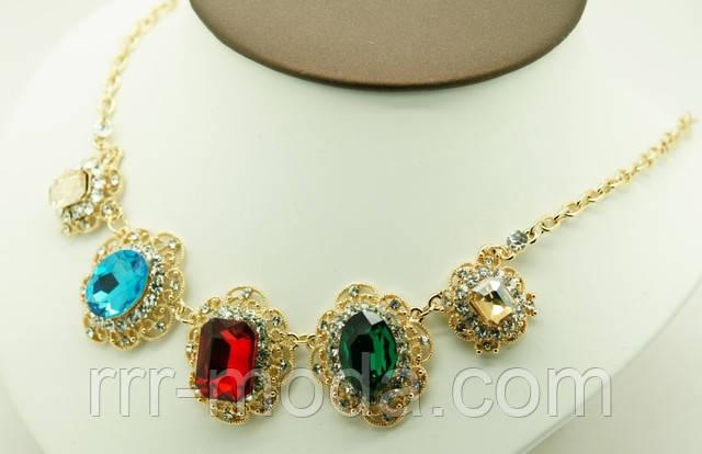 6b813f42b05d Купить Ожерелье с разноцветными кристаллами .234. колье и ожерелья от  компании ...