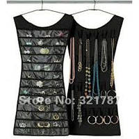 Маленькое платье - органайзер для украшений черный