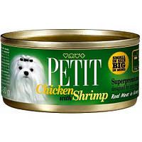 Petit k 80 g, курица и креветки - консервы для маленьких пород собак