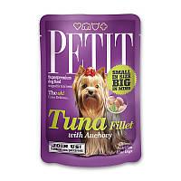 Petit pouch 80 g, филе тунца и анчоусы - влажный корм для маленьких собак