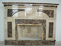 Камин мраморный Daino Reale и Emperador Dark