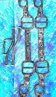 Комплект прокладок / ПАУКА/ впускного коллектора ЗиЛ-130/4 шт.