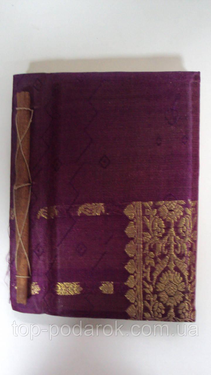 Записная книжка ручной работы обтянутая тканью