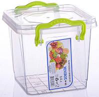 Пластиковый пищевой контейнер с крышкой 0,6 л