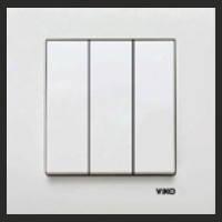 Выключатель тройной внутренний VIKO Karre белый 0068