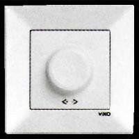 Выключатель диммер 600 Вт VIKO Meridian белый 0020