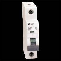 Автоматический выключатель 1C (однополюсный) 6А 4,5КА 230/400V Тип C VI-KO 4VTB-1C06
