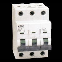 Автоматический выключатель 3C (трёхполюсный) 10А 4,5КА 230/400V Тип C VI-KO 4VTB-3C10