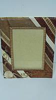 Фото-рамка с отделкой из натуральных листьев