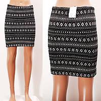 KI24003  Обтягивающая юбка-карандаш с орнаментом