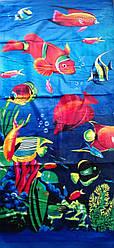 """Полотенце пляжное  """" Подводный мир"""""""