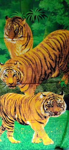 """Полотенце пляжное  """" Тигры"""""""