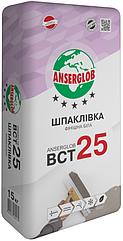 Шпаклевка цементная белая Anserglob BCT-25, 15кг