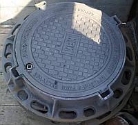 Люк тяжелый (С250) с з/у и мех. обр логотип ВОДОКАНАЛ