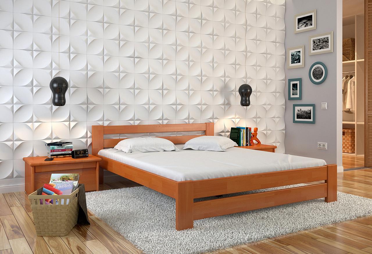 Кровать деревянная Симфония из натурального дерева двуспальная, фото 1