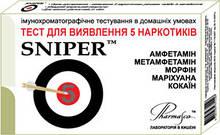 Экспресс-тест для определения 5 наркотиков SNIPER 5