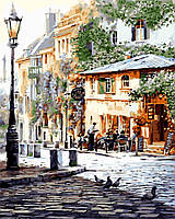 Картина раскраска по номерам без коробки Италия Летнее кафе (BK-GX8875) 40 х 50 см