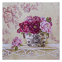 Картина раскраска по номерам без коробки Идейка Английские розы (KHO2914) 40 х 40 см