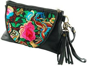 Шикарная кожаная женская сумка Traum 7320-10 черный