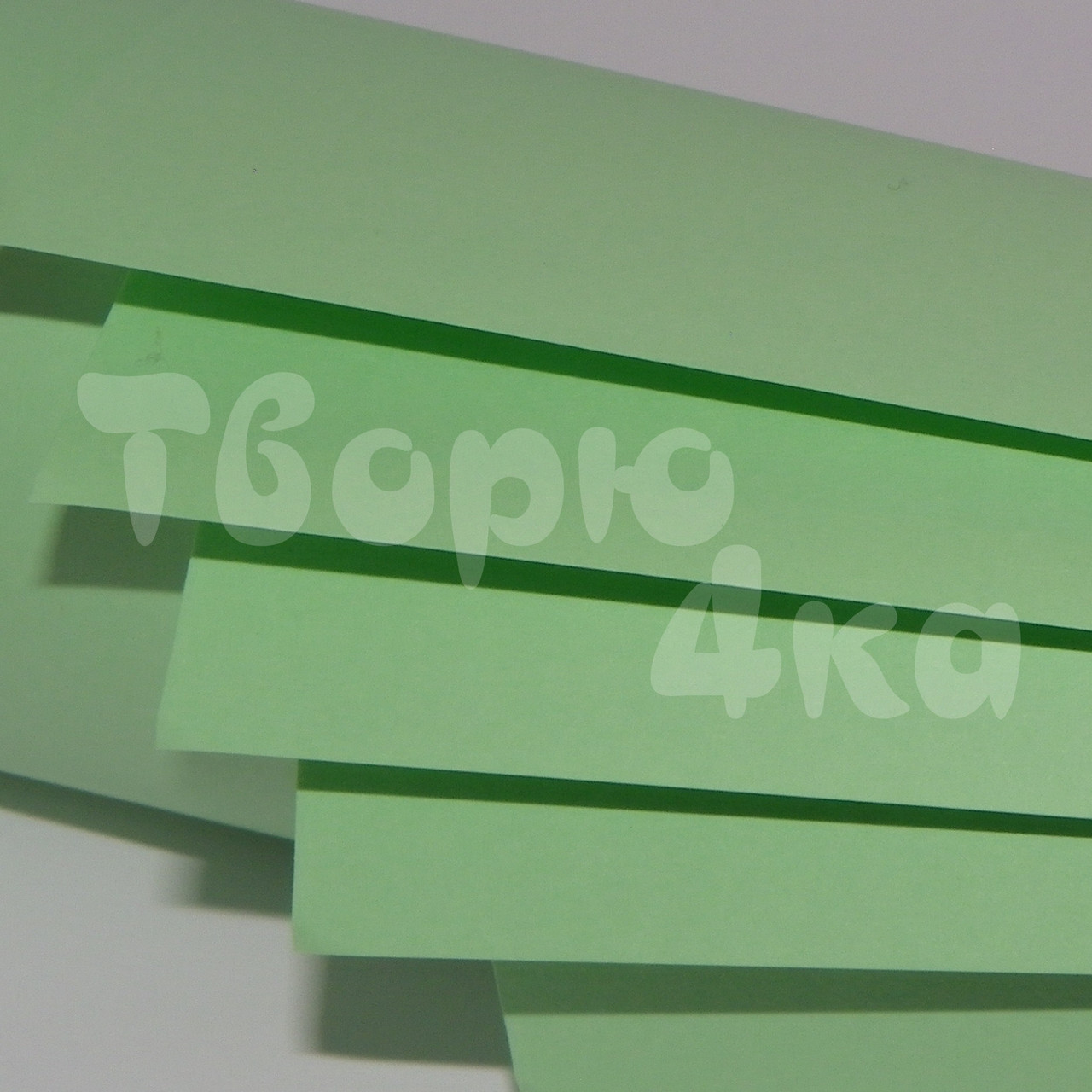Бумага цветная А4 160 гр/м.кв light lagoon (нефритовый)