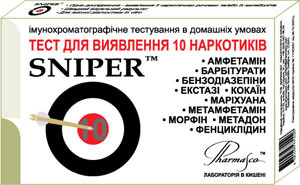 Экспресс-тест для определения 10 наркотиков SNIPER 10