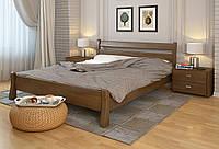 Кровать деревянная Венеция из натурального дерева односпальная, фото 1