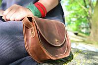 Сумка-клатч через плечо из натуральной кожи