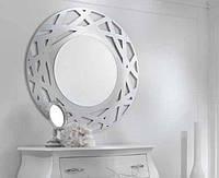 Зеркало декоративное круглое, геометрический узор,  600х600мм