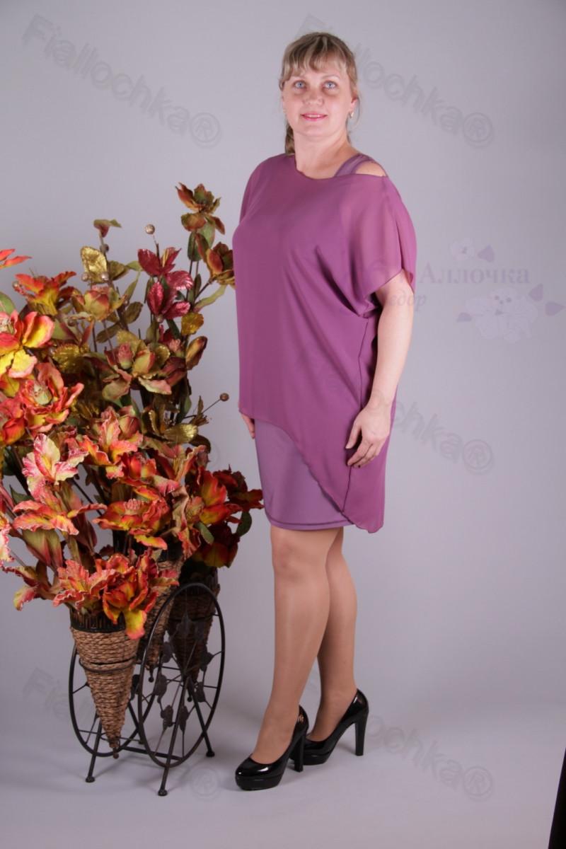 Блуза 2910-439/3 шифон больших размеров оптом