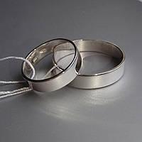 Серебряное обручальное кольцо Американка плоское