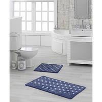 Набор ковриков для ванной Marie Сlaire Lodi темно синий 57*100 + 57*57