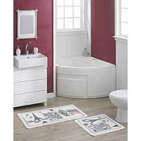 Набор ковриков для ванной Marie Сlaire Capitale черный 57*100 + 57*57