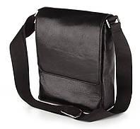 Красивая кожаная наплечная мужская сумка SHVIGEL 00371