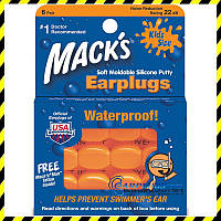 Детские беруши Mack's Pillow Soft Orange (6 пар!). США.