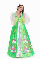 Весна цветущая расшитая цветами женский карнавальный костюм