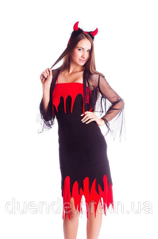 Чертенок женский маскарадный костюм / BL - ВЖ134