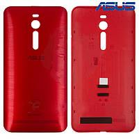 Задняя панель корпуса для Asus ZenFone 2 (ZE550ML), красная, оригинал