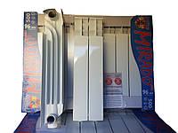 Алюминиевые радиаторы Mirado Lux 500 на 96 с теплоотдачей 205 ват Украина