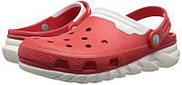 Кроксы Crocs Duet Max Clog Красные с белым, фото 1