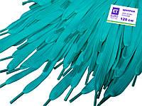 Шнурки для обуви (120см) плоские, голубые, фото 1