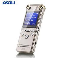 Диктофон цифровой мини AIDU A18, 8 Гб памяти, MP3 плеер, голосовая активация, 2 микрофона, шумоподавление