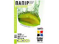 Фотобумага ColorWay самоклеющаяся глянцевая (Формат: A4 (210x297 mm), Плотность: 135 г / м2 Количество в упако